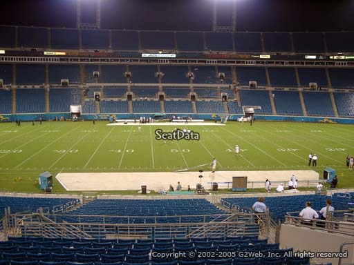 Seat view from section 138 at Everbank Field, home of the Jacksonville Jaguars
