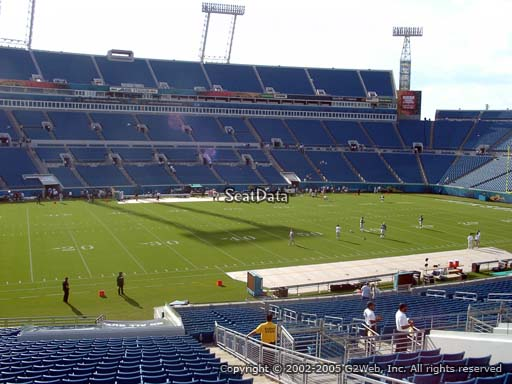 Seat view from section 139 at Everbank Field, home of the Jacksonville Jaguars