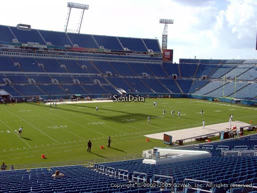 Seat view from section 141 at TIAA Bank Field, home of the Jacksonville Jaguars