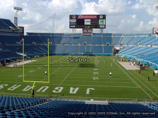 Seat view from section 147 at Everbank Field, home of the Jacksonville Jaguars