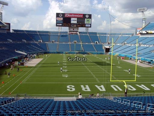 Seat view from section 149 at Everbank Field, home of the Jacksonville Jaguars