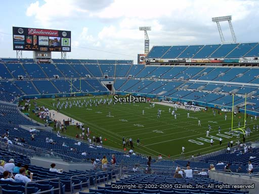 Seat view from section 201 at Everbank Field, home of the Jacksonville Jaguars