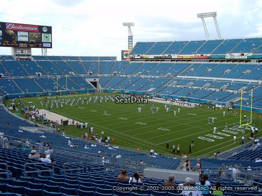 Seat view from section 202 at TIAA Bank Field, home of the Jacksonville Jaguars