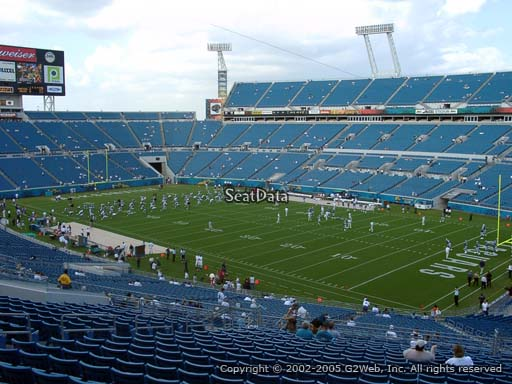 Seat view from section 203 at Everbank Field, home of the Jacksonville Jaguars