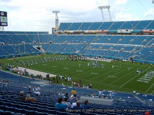 Seat view from section 204 at Everbank Field, home of the Jacksonville Jaguars