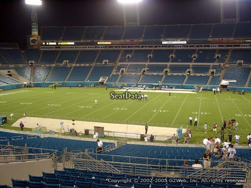 Seat view from section 208 at TIAA Bank Field, home of the Jacksonville Jaguars