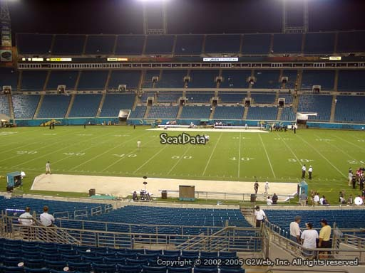 Seat view from section 209 at TIAA Bank Field, home of the Jacksonville Jaguars