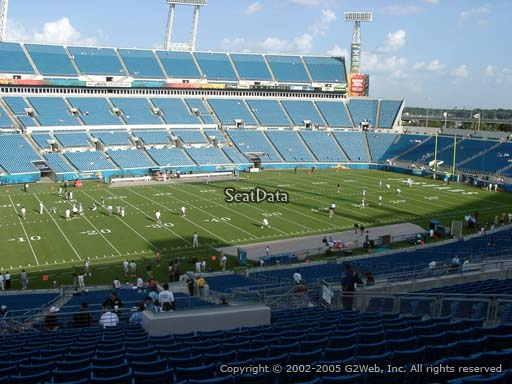 Seat view from section 212 at Everbank Field, home of the Jacksonville Jaguars