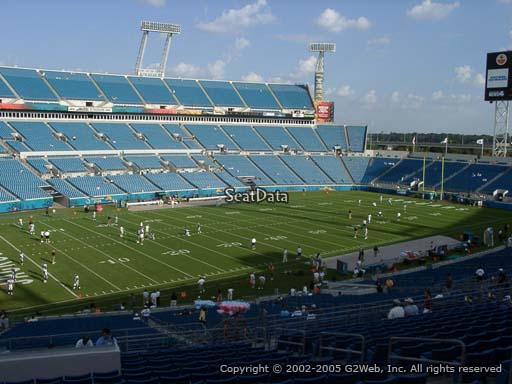Seat view from section 215 at TIAA Bank Field, home of the Jacksonville Jaguars