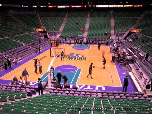 View from Section 1 at Vivint Smart Home Arena, home of the Utah Jazz