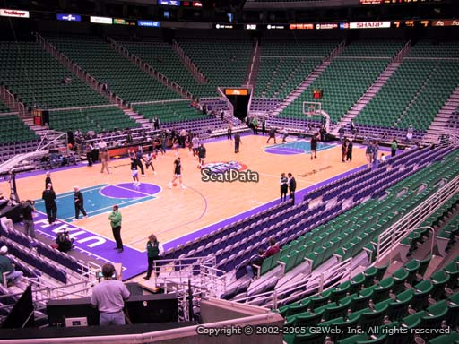 View from section 10 at Vivint Smart Home Arena, home of the Utah Jazz