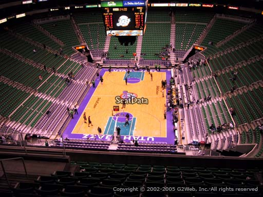 View from section 101 at Vivint Smart Home Arena, home of the Utah Jazz.
