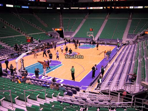 View from section 11 at Vivint Smart Home Arena, home of the Utah Jazz.