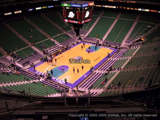 View from section 118 at Vivint Smart Home Arena, home of the Utah Jazz.