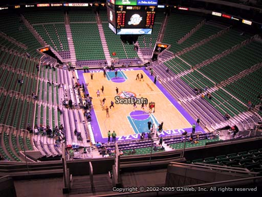 View from section 124 at Vivint Smart Home Arena, home of the Utah Jazz.