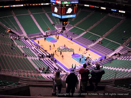 View from section 126 at Vivint Smart Home Arena, home of the Utah Jazz.