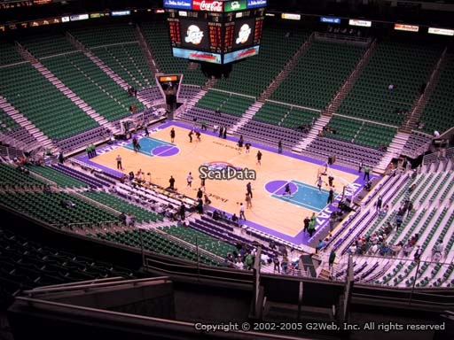 View from section 128 at Vivint Smart Home Arena, home of the Utah Jazz.