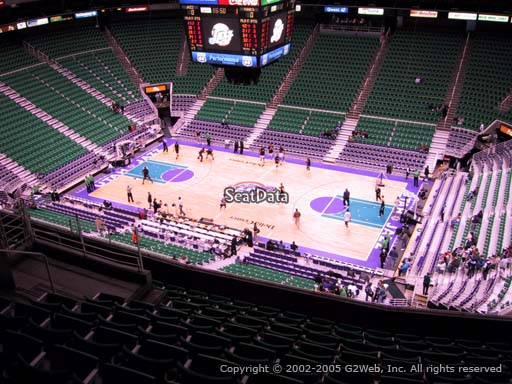 View from section 129 at Vivint Smart Home Arena, home of the Utah Jazz.