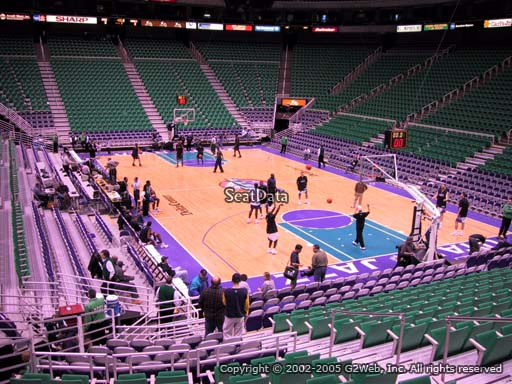 View from section 14 at Vivint Smart Home Arena, home of the Utah Jazz.