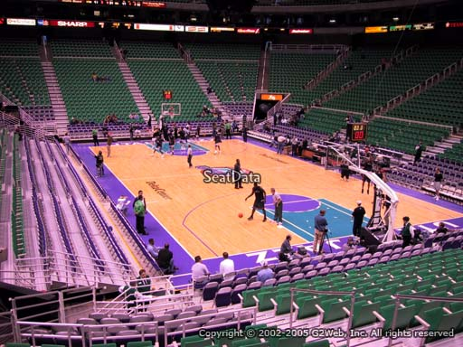 View from Section 3 at Vivint Smart Home Arena, home of the Utah Jazz