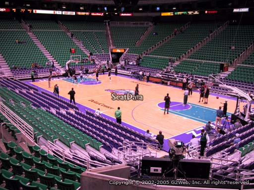 View from Section 4 at Vivint Smart Home Arena, home of the Utah Jazz