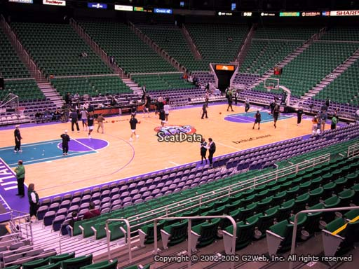 View from section 9 at Vivint Smart Home Arena, home of the Utah Jazz