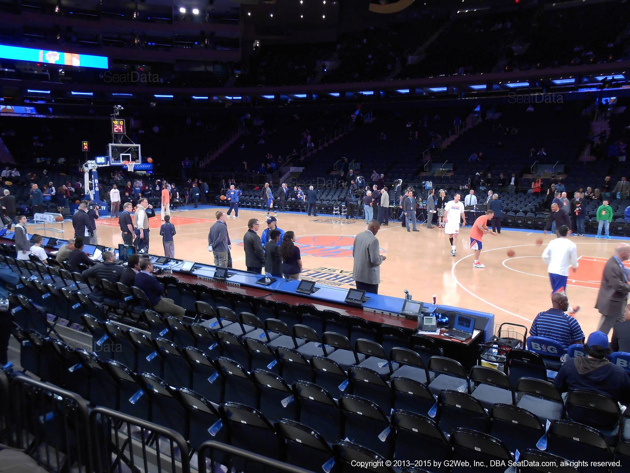 Seat view from section 6 at Madison Square Garden, home of the New York Knicks.