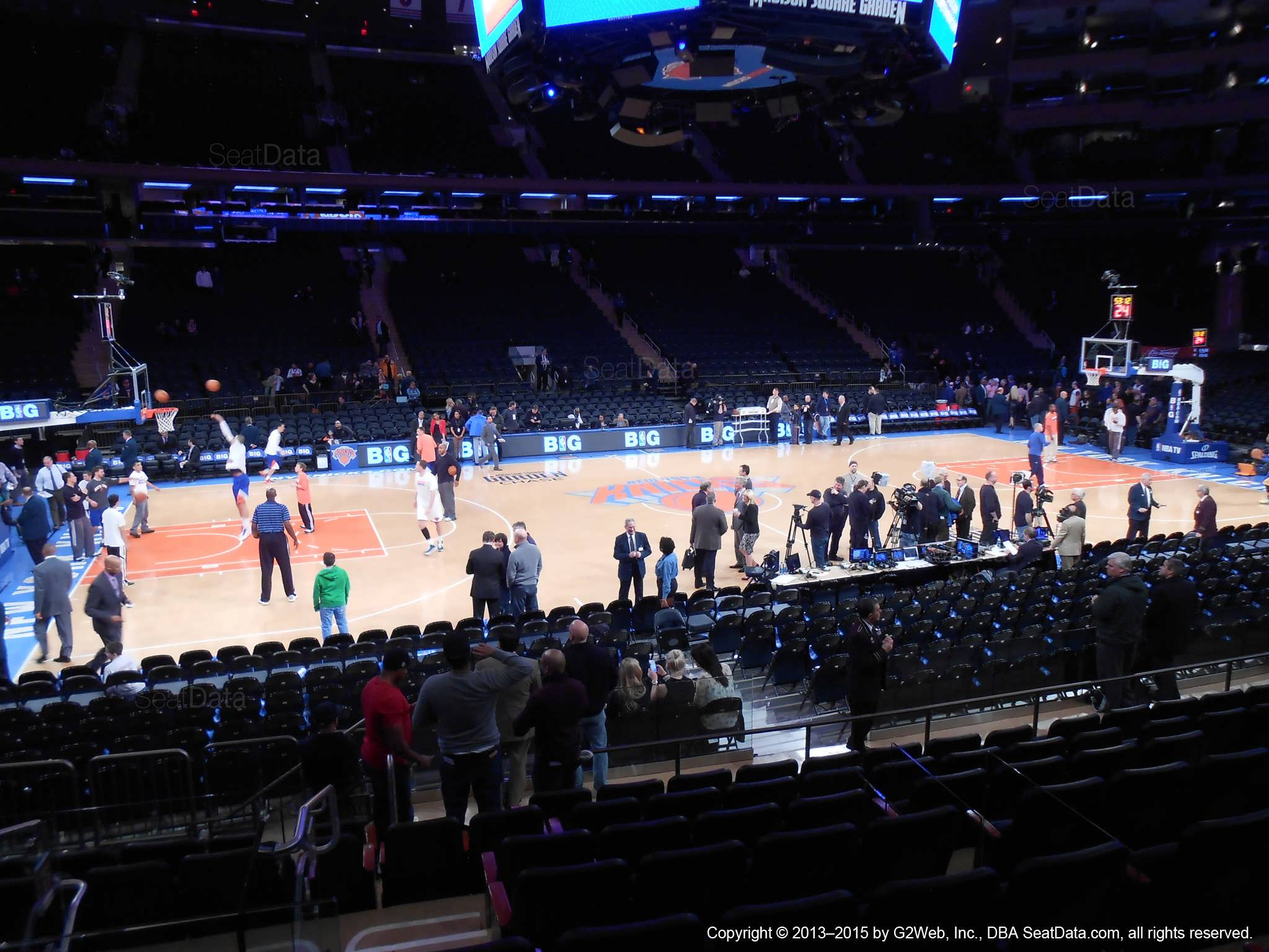 Seat view from section 116 at Madison Square Garden, home of the New York Knicks.