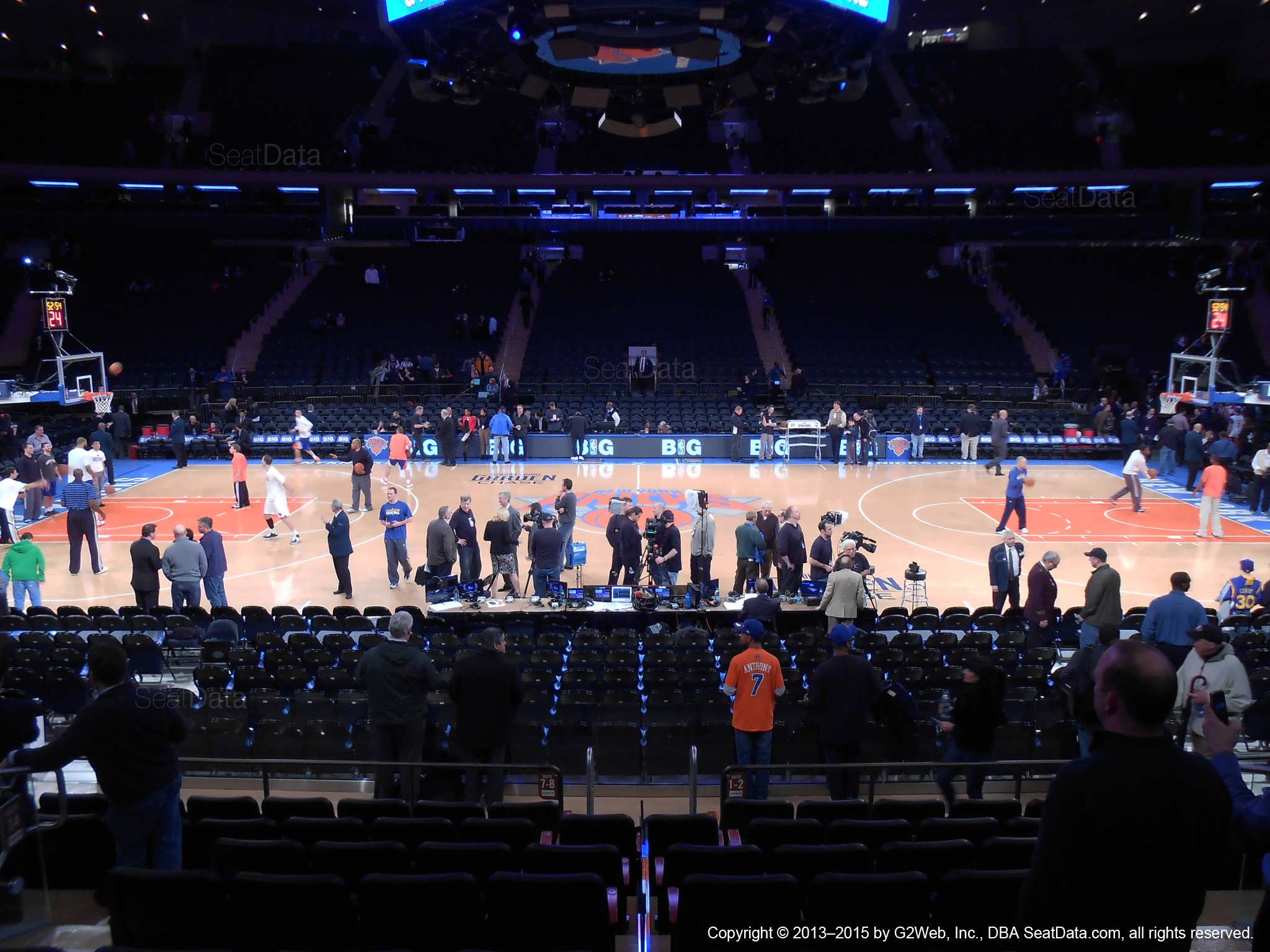 Seat view from section 117 at Madison Square Garden, home of the New York Knicks.