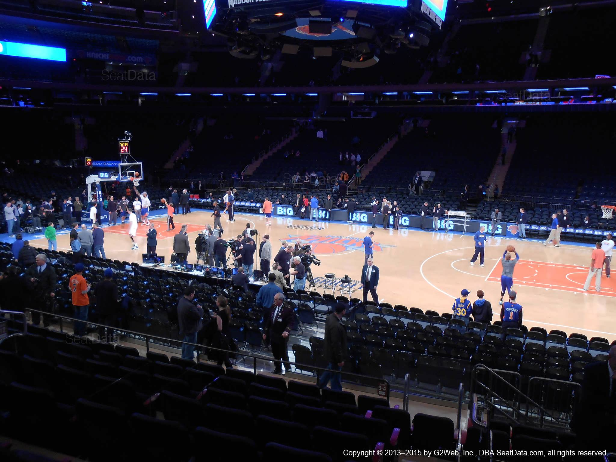 Seat view from section 118 at Madison Square Garden, home of the New York Knicks.