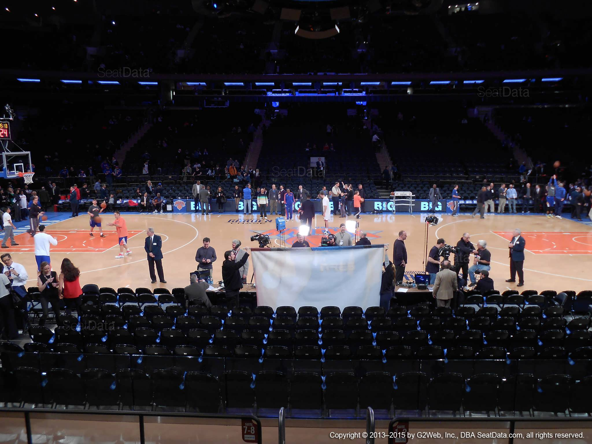 Seat view from section 11 at Madison Square Garden, home of the New York Knicks.
