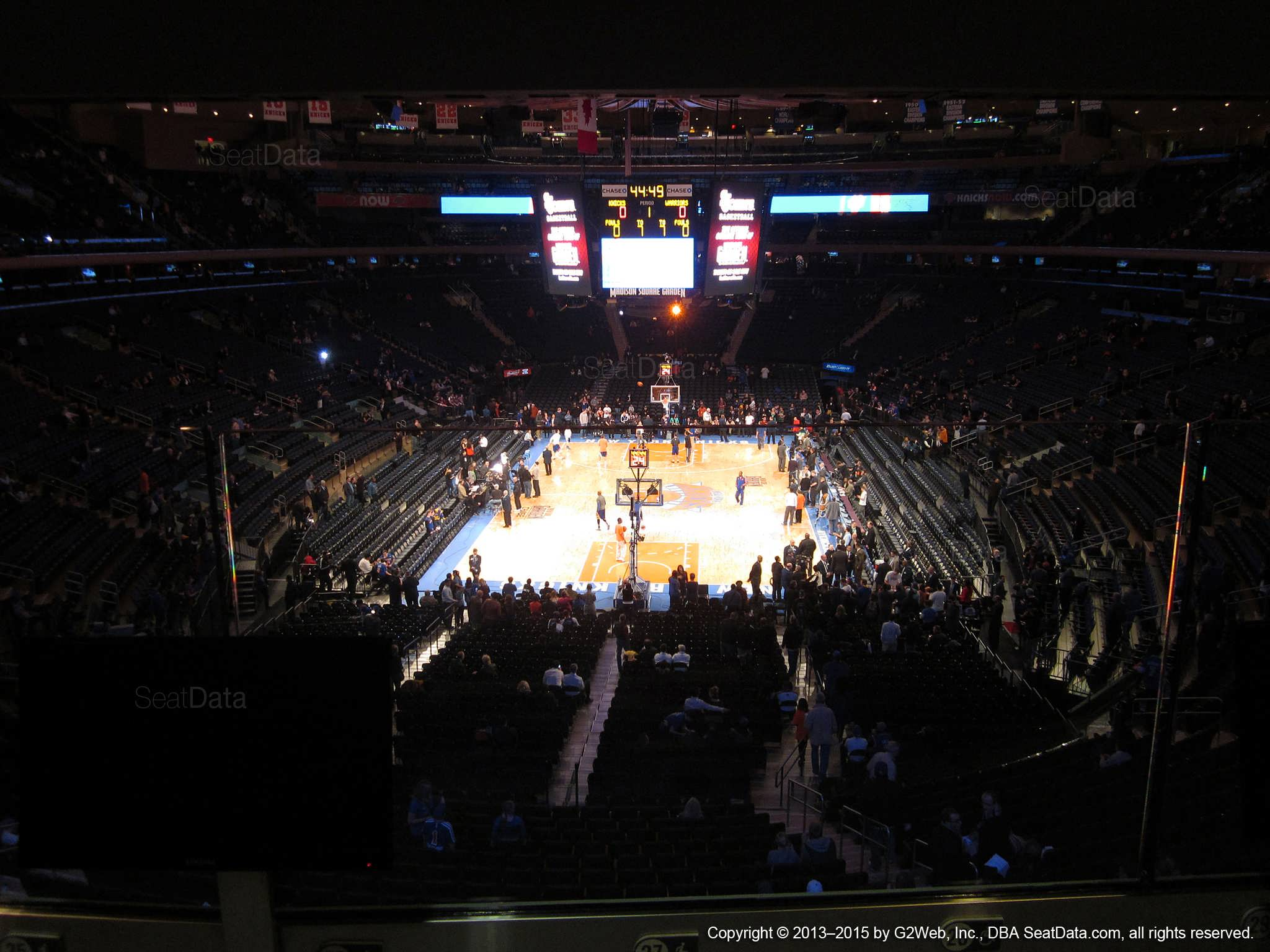 Seat view from section 204 at Madison Square Garden, home of the New York Knicks.
