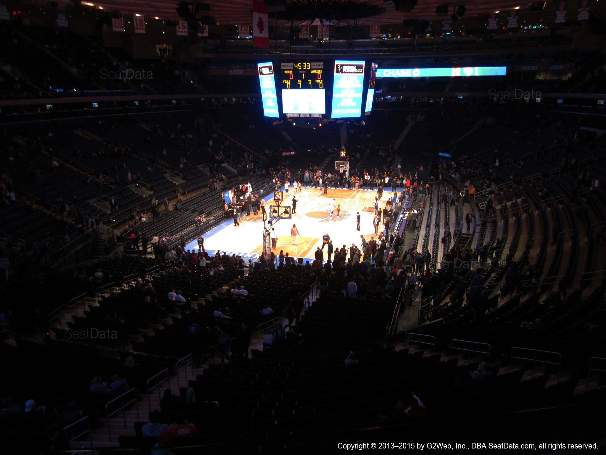 Seat view from section 205 at Madison Square Garden, home of the New York Knicks.