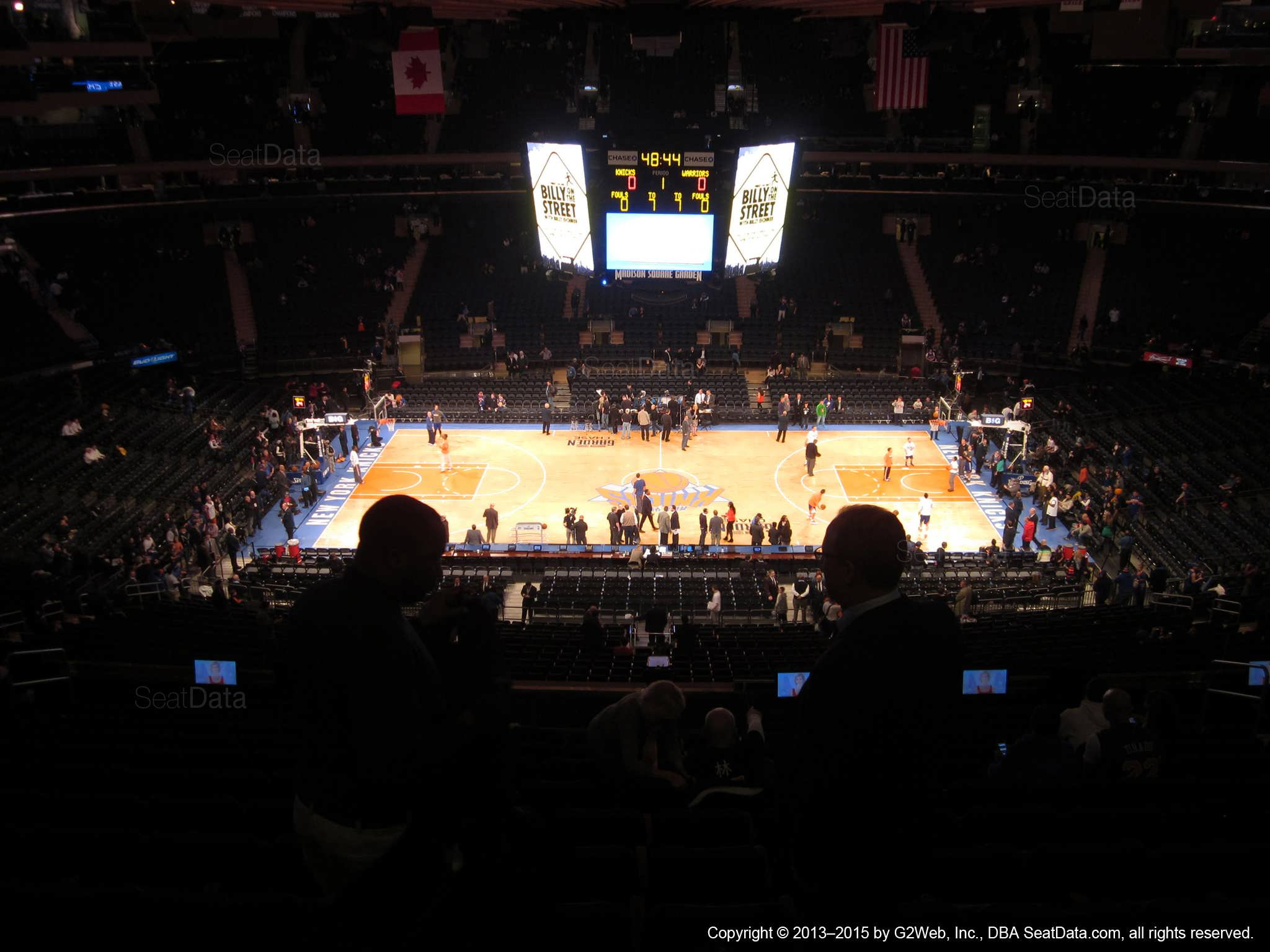 Seat view from section 211 at Madison Square Garden, home of the New York Knicks.