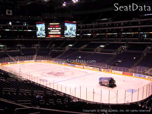 Seat view from Premier Section 10 at the Staples Center, home of the Los Angeles Kings