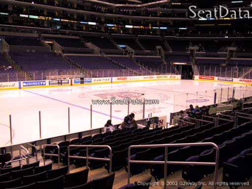 Seat view from section 103 at the Staples Center, home of the Los Angeles Kings