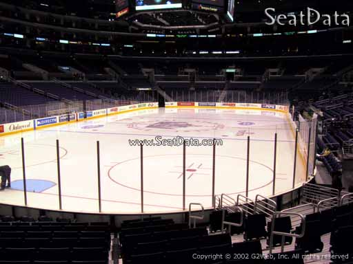 Seat view from section 105 at the Staples Center, home of the Los Angeles Kings