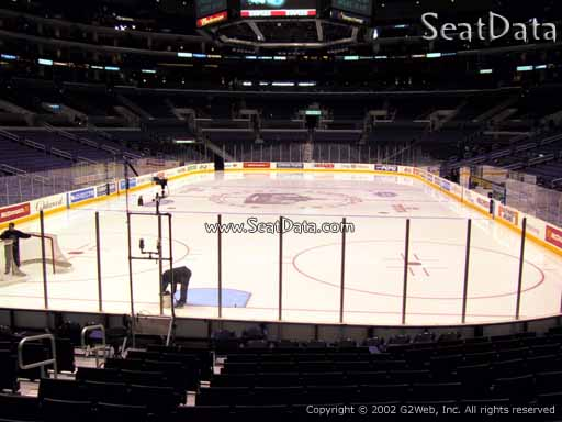 Seat view from section 106 at the Staples Center, home of the Los Angeles Kings