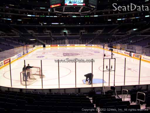 Seat view from section 107 at the Staples Center, home of the Los Angeles Kings