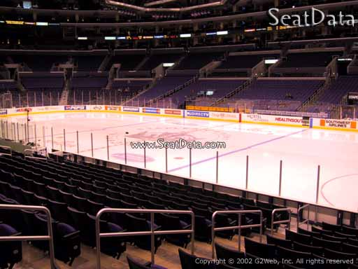 Seat view from section 109 at the Staples Center, home of the Los Angeles Kings