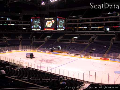 Seat view from Premier Section 11 at the Staples Center, home of the Los Angeles Kings