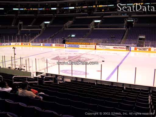 Seat view from section 110 at the Staples Center, home of the Los Angeles Kings