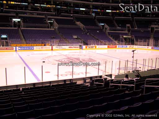 Seat view from section 112 at the Staples Center, home of the Los Angeles Kings