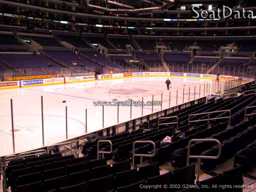 Seat view from section 114 at the Staples Center, home of the Los Angeles Kings