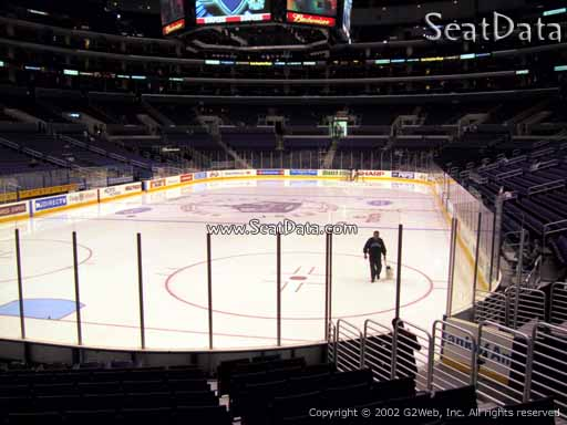 Seat view from section 115 at the Staples Center, home of the Los Angeles Kings