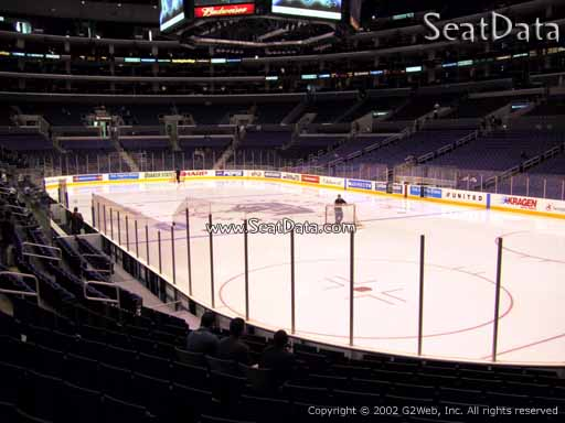 Seat view from section 117 at the Staples Center, home of the Los Angeles Kings