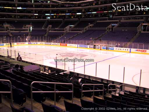Seat view from section 118 at the Staples Center, home of the Los Angeles Kings