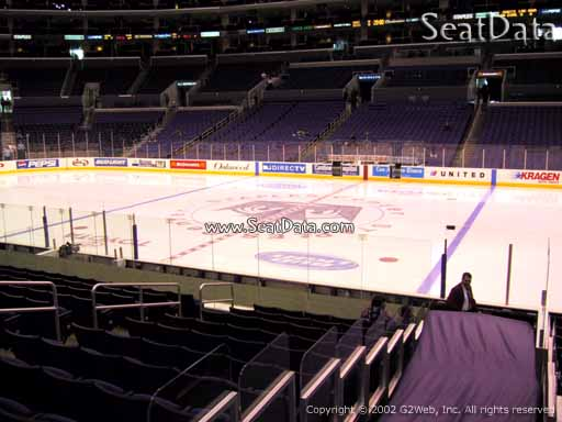 Seat view from section 119 at the Staples Center, home of the Los Angeles Kings