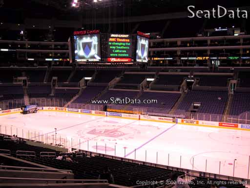 Seat view from Premier Section 12 at the Staples Center, home of the Los Angeles Kings
