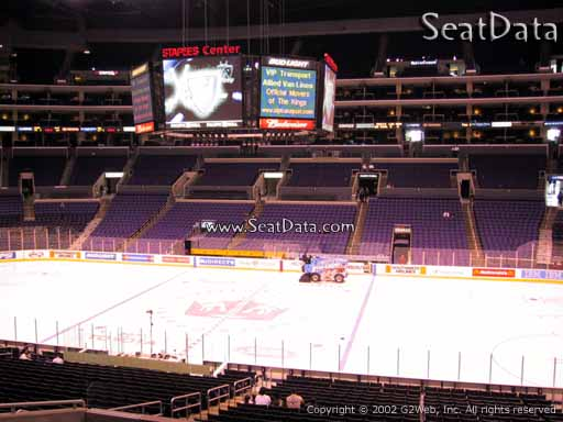 Seat view from Premier Section 13 at the Staples Center, home of the Los Angeles Kings